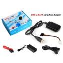 ADATTATORE DA SATA / IDE A USB 2.0 SUPPORTA HD HARD DSIK 2.5 3.5 CAVO SATA