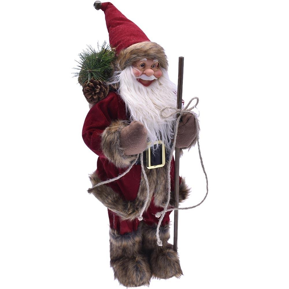 Babbo Natale 60 Cm.Babbo Natale Nordico 60cm Plastica Vestiti Tessuto Decorazione Nataliz