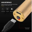 TAGLIACAPELLI RASOIO ELETTRICO PROFESSIONALE USB RICARICABILE RETRò VINTAGE ORO