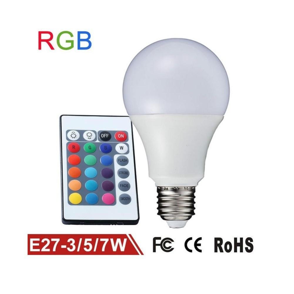 Lampadina lampada faretto led rgb con telecomando luce for Faretto led rgb