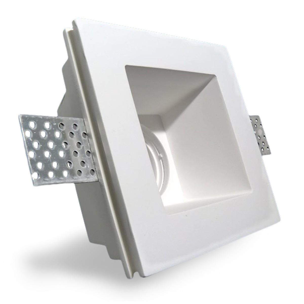 Porta faretto in gesso ceramico a scomparsa per lampade a for Lampadine led x faretti