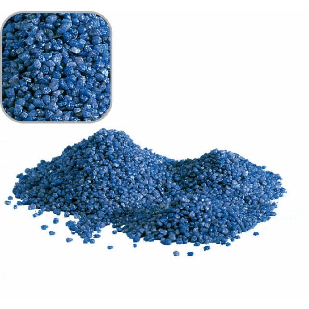 sabbia quarzo blu per decorazione fondale acquario