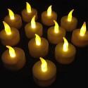 SET 10 CANDELE LANTERNE TEALIGHT TEA LIGHT ELETTRICHE LED BATTERIA DECORAZIONE