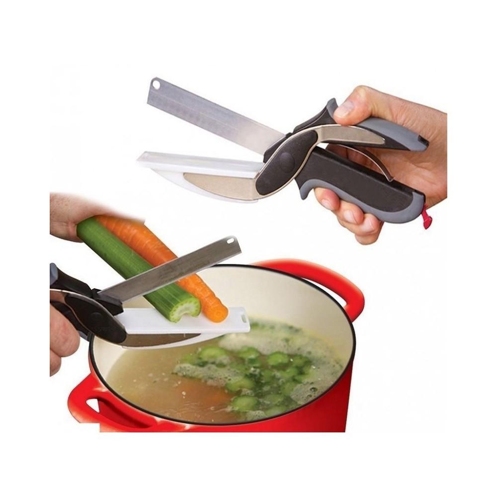 Forbici coltello e tagliere da cucina clever cutter 2 in 1 - Stoviglie e utensili da cucina ...