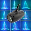 PROIETTORE FARO AIRSHIP 64 LED 10W RGB FASCIO DI LUCE EFFETTI DISCO LASER LUCI