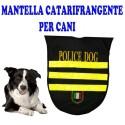 CAPPOTTO VESTITO IMPERMEABILE CATARIFRANGENTE CANE POLICE DOG TAGLIA S