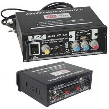 Amplificatore stereo m 20 casa audio auto casa mp3 sd usb for Stereo casa
