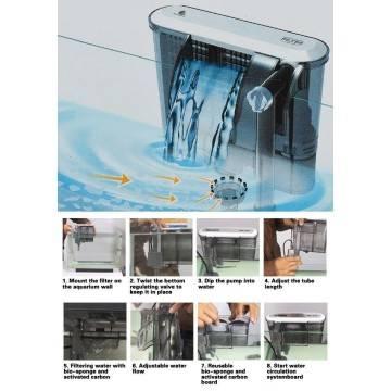 Pompa 131 acquario sommergibile fontane fontana stagno for Filtro per stagno