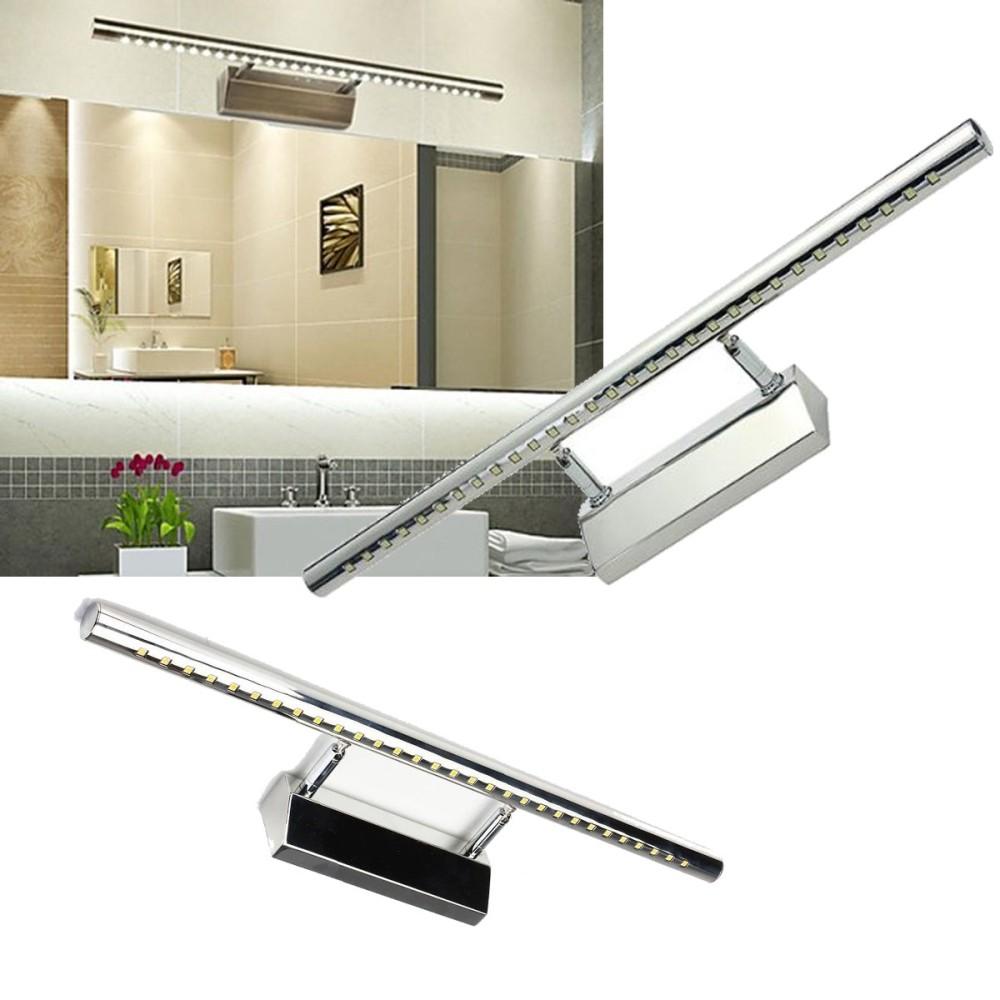 Applique lampada per specchio bagno da parete con 30 led - Specchio con luce per bagno ...