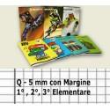 20 PEZZI QUADERNONI QUADERNONE QUADRETTI Q - 5mm CON MARGINE 1° 2° 3° ELEMENTARE