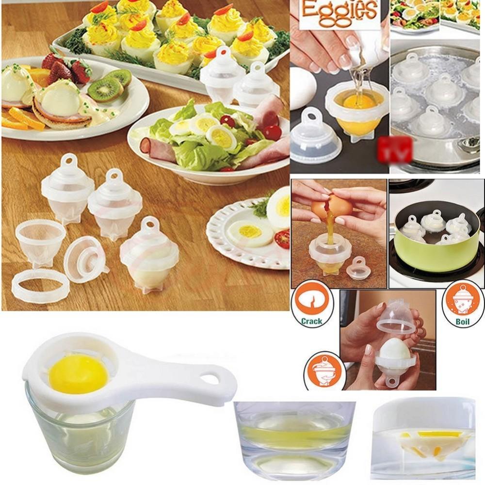 Set 6 pz cucinare e bollire uovo sodo alla coque rompe for Cucinare e congelare