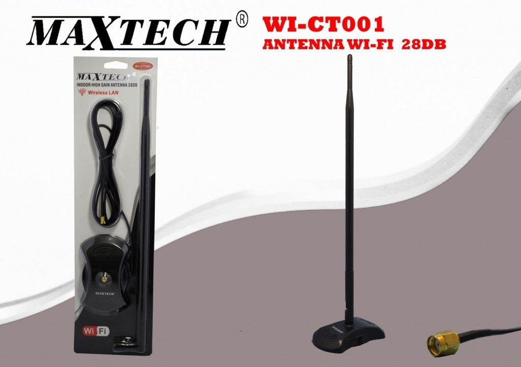 Antenna Wireless Wifi 28 Dbi Amplificatore Segnale Internet Router Modem