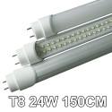 """TUBO NEON LED 24W """"150 CM"""" T8 348 SMD LED LAMPADINA FREDDA LAMPADA"""