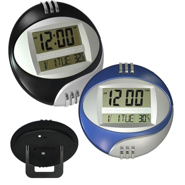 Orologio digitale da per parete muro tavolo datario temperatura display lcd - Orologio da tavolo digitale ...