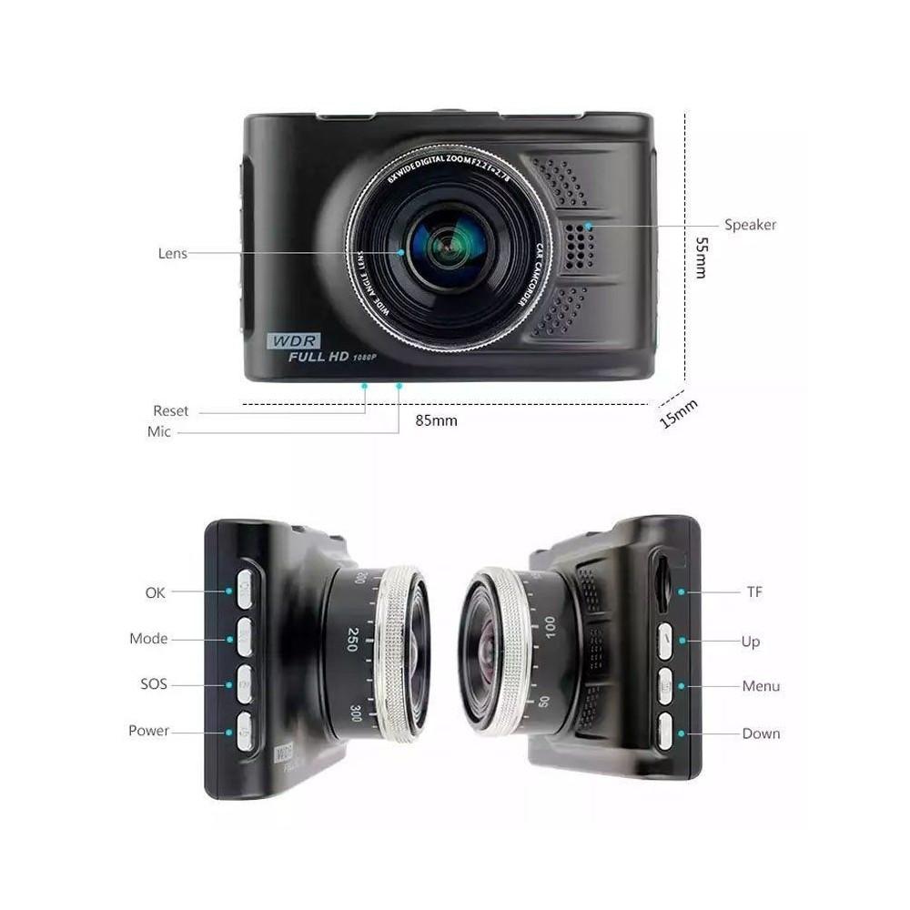 Mini Dv Dvr Telecamera Per Auto Videoregistratore Auto 2 Telecamere