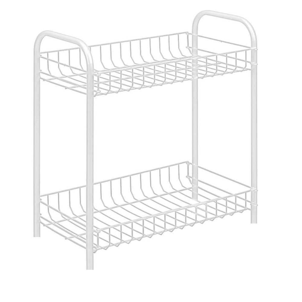 Carrello portaoggetti porta oggetti 2 ripiani bianco 208 for Oggetti decorativi per cucina