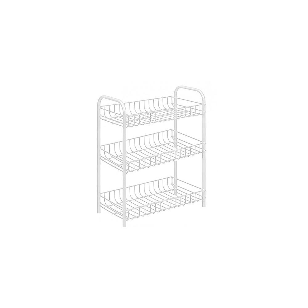 Carrello portaoggetti porta oggetti 3 ripiani bianco 308 for Oggetti decorativi per cucina