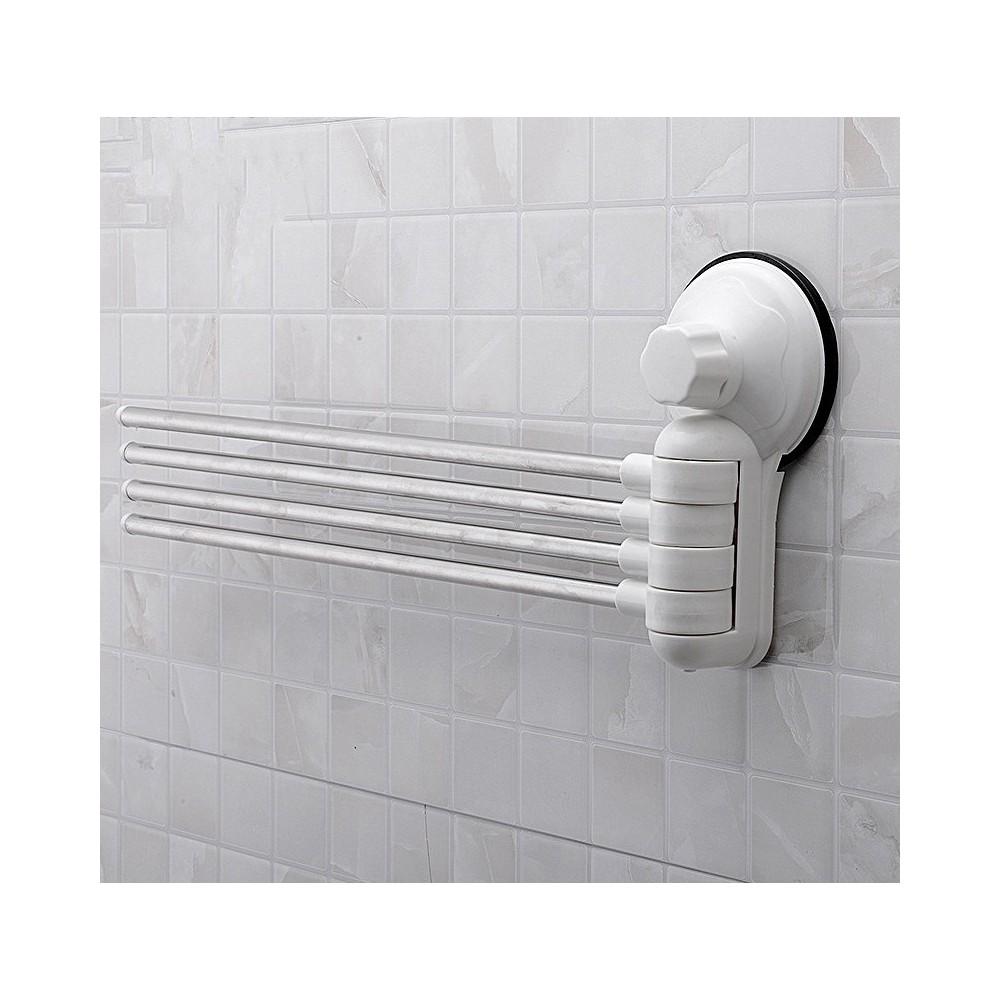 Porta asciugamani asciugamano a parete 4 bracci con attacco a ventosa per bagno - Asciugamani bagno firmati ...