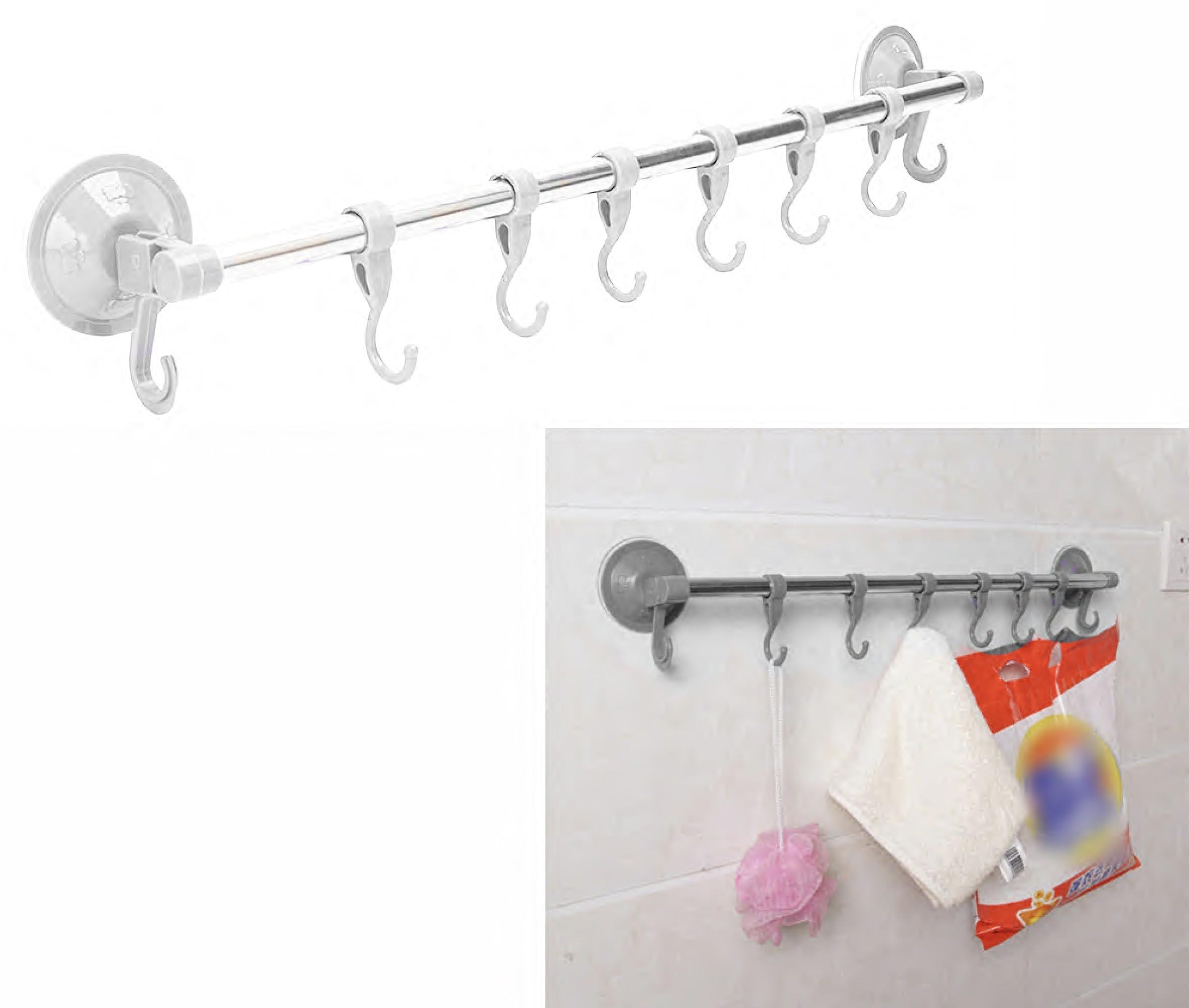 porta asciugamani asciugamano a parete 4 bracci con attacco a ventosa per bagno