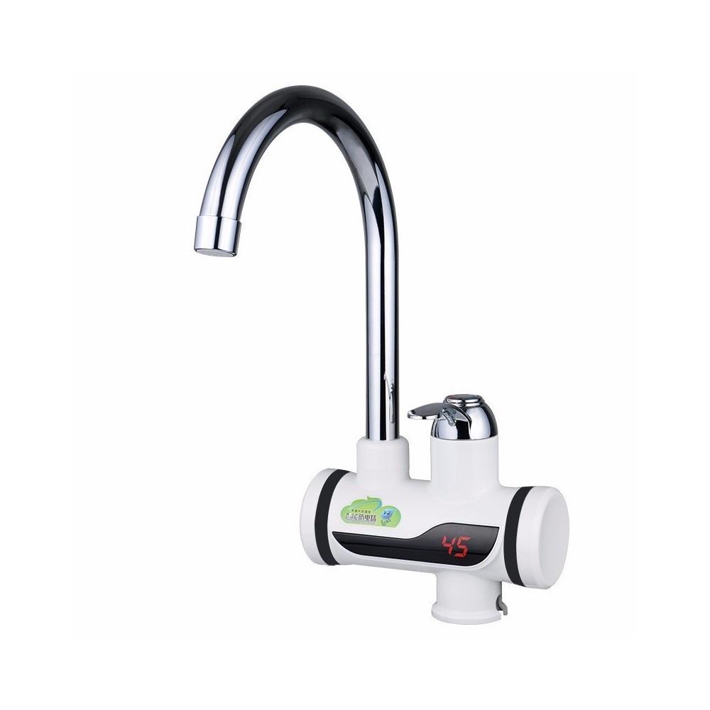 Rubinetto miscelatore elettrico caldaia acqua calda con spina cucina bagno 3000w - Acqua calda per andare in bagno ...