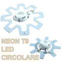 NEON T9 LED CIRCOLARE 5W 9W 12W 15W 220V ROTONDO PER CAMBIO G10Q - 2GX13 +DRIVER