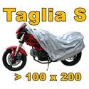 TELO COVER COPRI MOTO SCOOTER BICICLETTA POLIETILENE ARGENTO TAGLIA S 100 X 200