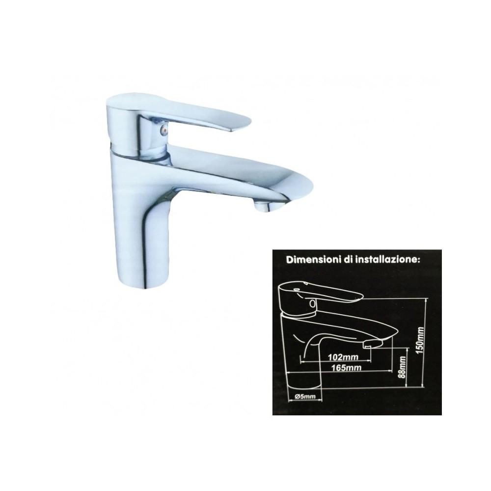 Miscelatore rubinetto bagno doccia lavabo lavandino monoforo monocomando - Rubinetto lavandino bagno ...
