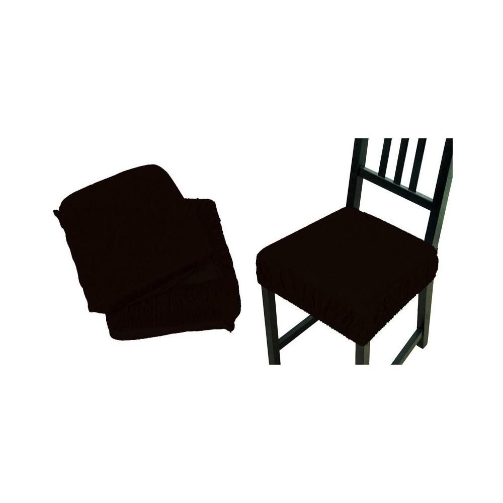 6 copri sedia marrone fascia elastico cuscino per sedie - Cuscino per sedia viola ...