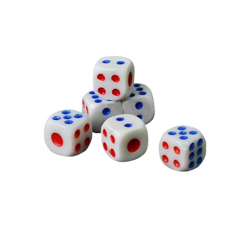 Set 5 Dadi XXL Dado 8x8cm Legno per Giochi Di Societa da Tavolo Gioco di Ruolo