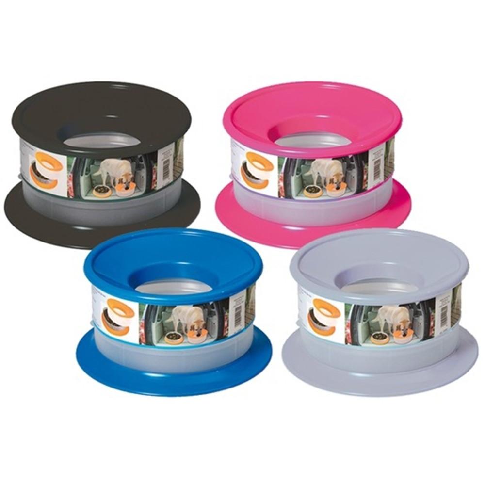 Ciotola Cibo Alimentatore Acqua Ciotole per Cani Portatili in plastica a Forma di Osso Rosa