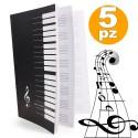 5 X PENTAGRAMMA QUADERNO A4 MAXI MUSICA SPARTITI SPARTITO MUSICALE 30 FOGLI