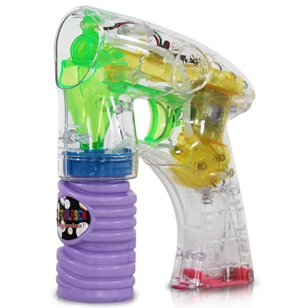 Pistola Spara Bolle Di Sapone Con Luci Giocattoli Per Bambini Gadget