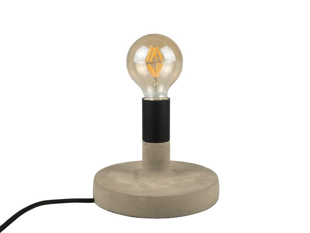 Lampade Scrivania Ufficio : Lampada da tavolo scrivania per casa ufficio in calcestruzzo