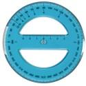 GONIOMETRO CIRCOLARE 360 GRADI DIAMETRO 12 CM PER ANGOLO ANGOLI SCOLASTICO