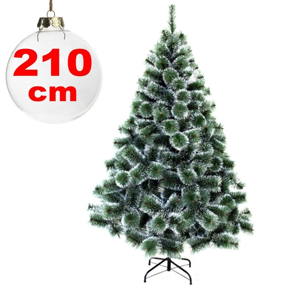 Decorare Finestre Per Natale Scuola albero di natale sintetico 210 cm innevato decorazione per