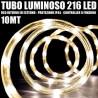 TUBO LUMINOSO 216 LED BIANCO CALDO 10 MT 3VIE USO INTERNO/ESTERNO + CONTROLLER