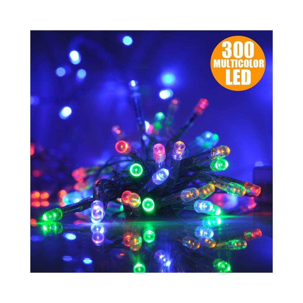 Catena Luminosa Per Foto catena luminosa natale 300 led multicolor per interno ed
