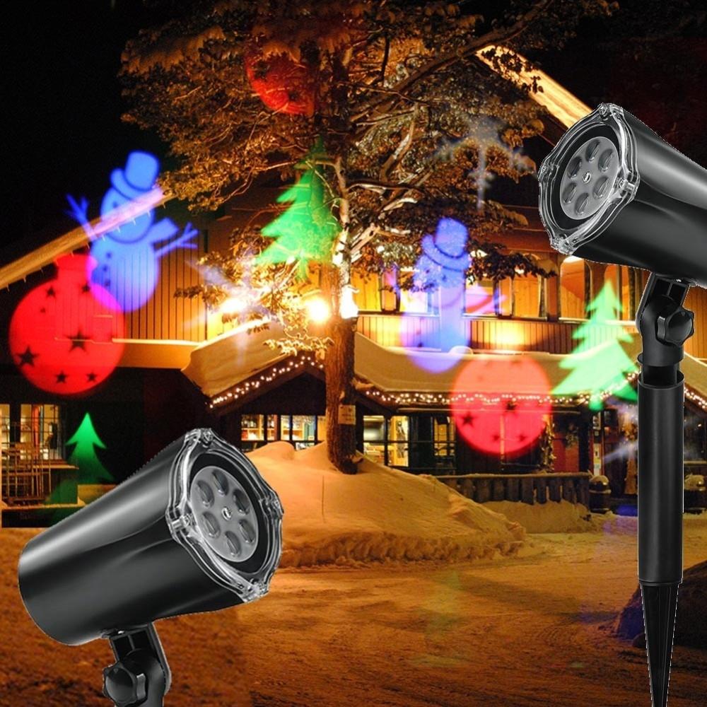 Proiettore laser natale per esterno giardino neve albero for Luci per esterno