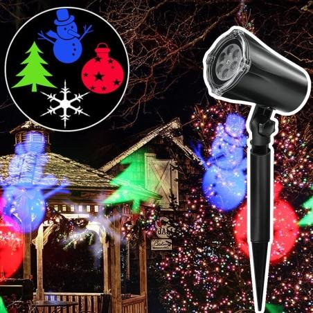 Proiettore Luci Laser Natalizie.Proiettore Laser Natale Per Esterno Giardino Neve Albero Natale Stella Luci Led