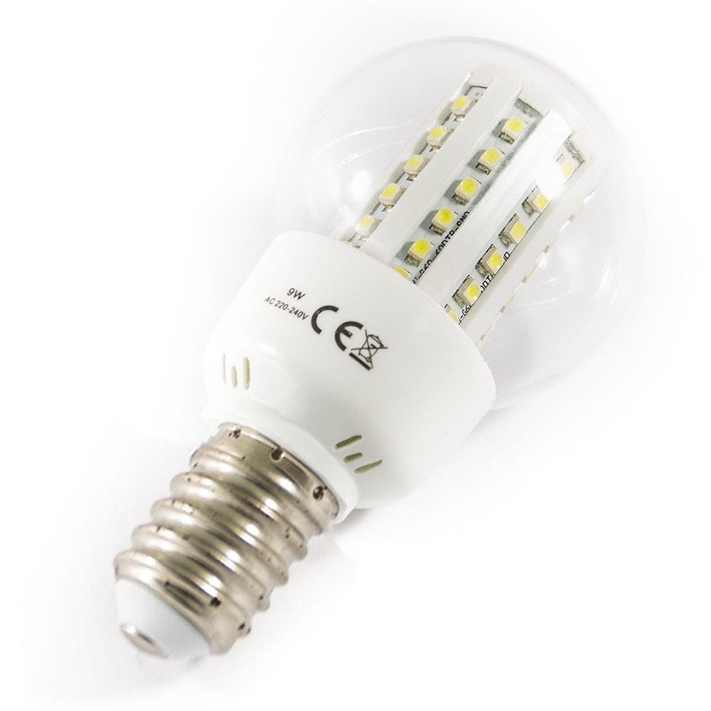 lampadina led con 60smd e27 e14 9w lunga durata luce