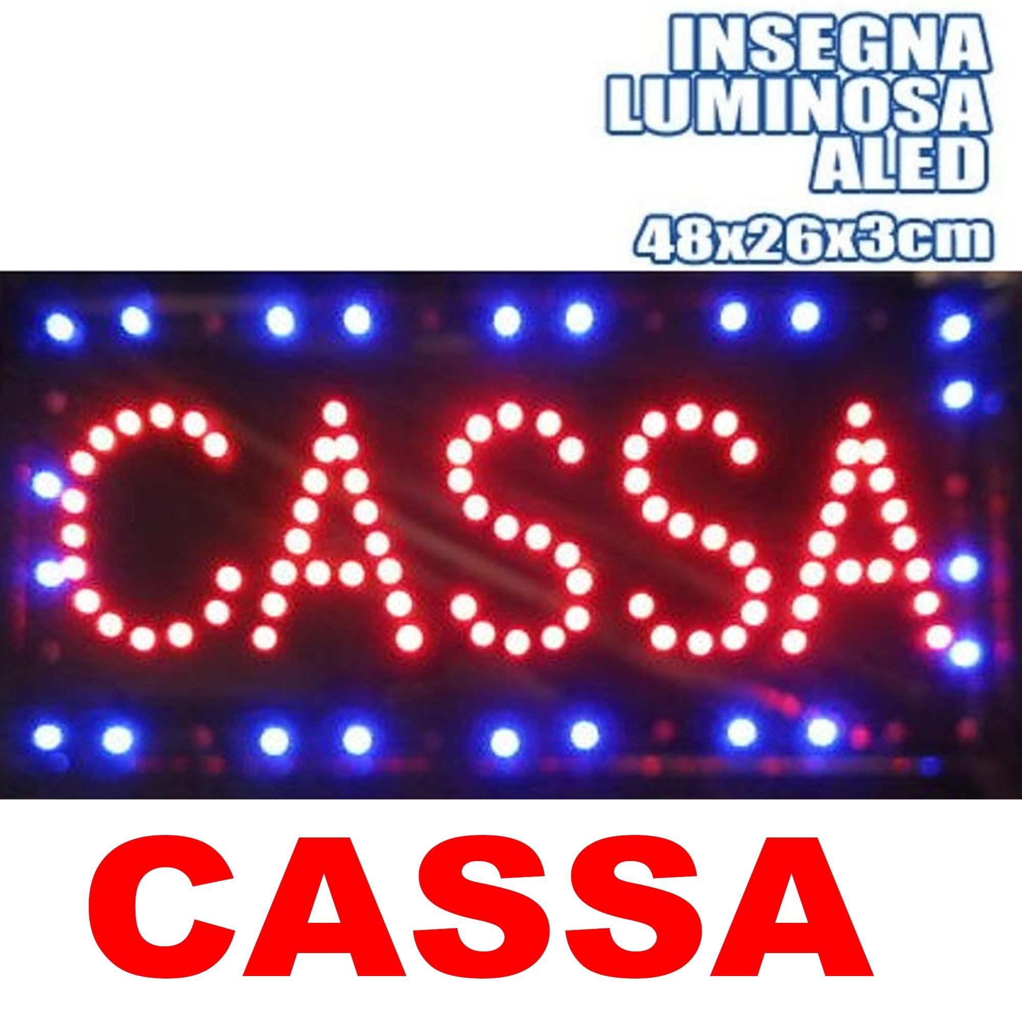 TrAdE Shop Traesio INSEGNA Luminosa INSEGNE Luminose A LED con Scritta TABACCHI