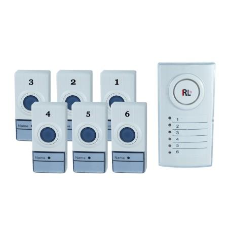 Campanello wireless senza fili casa ufficio con 6 zone - Campanello casa senza fili ...