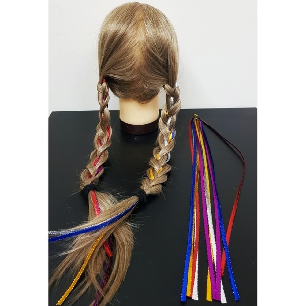 Extension Colorate Per Bambini set 20 fili colorati fascia extension lunga 95cm coda codini