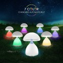 LAMPADA LED RGB A FUNGO COLORI CROMOTERAPIA TAVOLO COMODINO 7 COLORI SENZA FILI