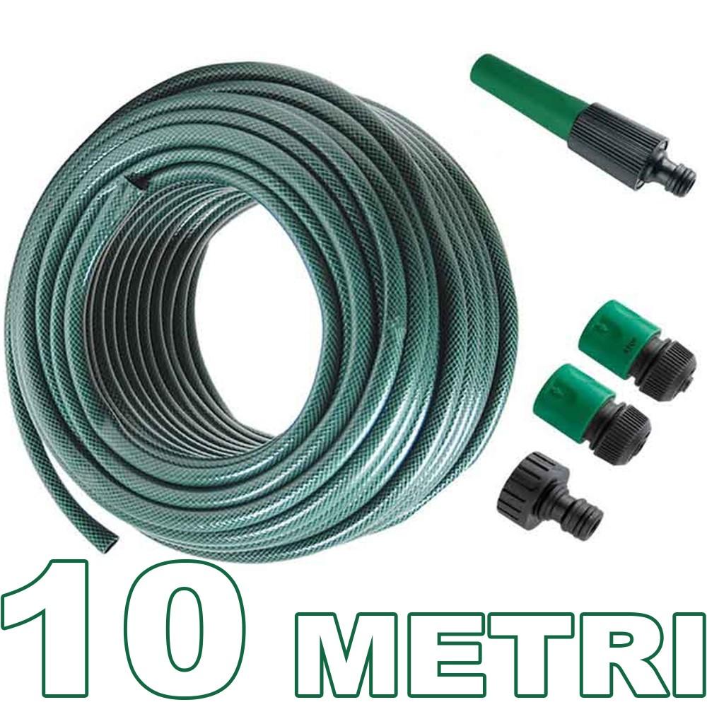 Tubo per irrigazione da giardino lungo 10 metri con - Prezzo tubo irrigazione giardino ...