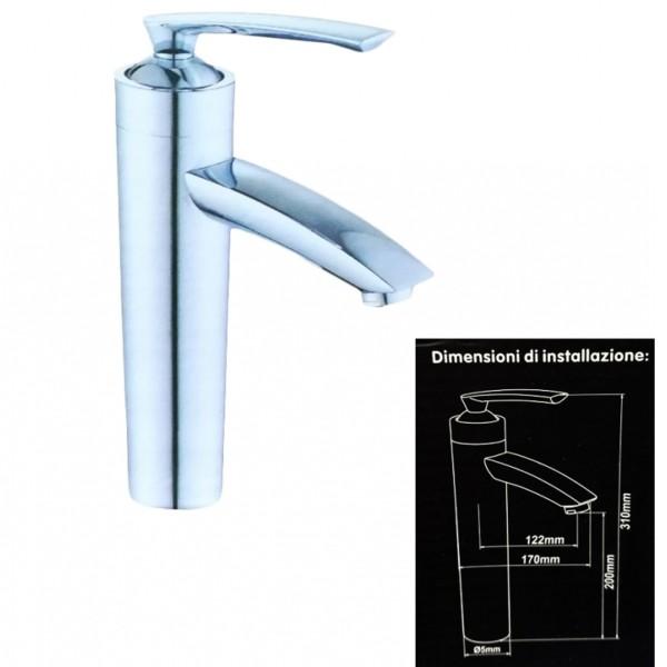 Miscelatore in acciaio per lavabo lavandino vasca bidet for Lavandino acciaio