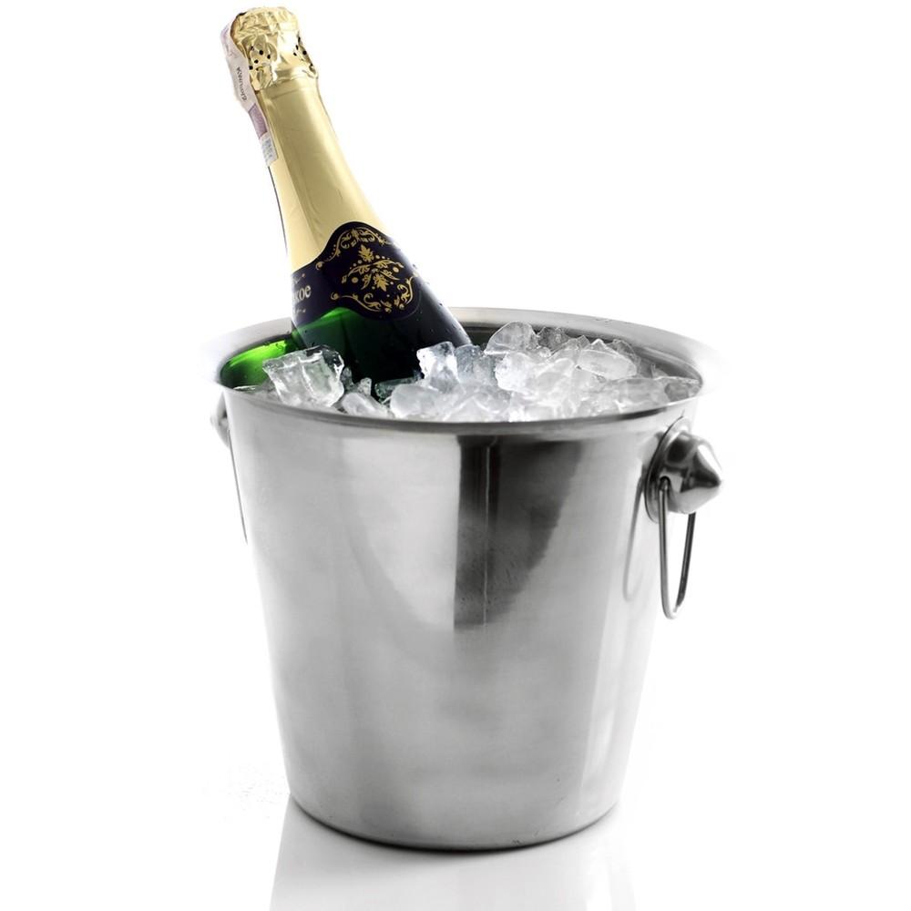 ZXL Portaghiaccio,Secchiello per Il Ghiaccio di Cristallo Contenitore per Bar Portatile per Vino in Ghiaccio Acrilico Portatile Carrello per Bevande Secchiello per Vino Refrigeratore di Vino PE