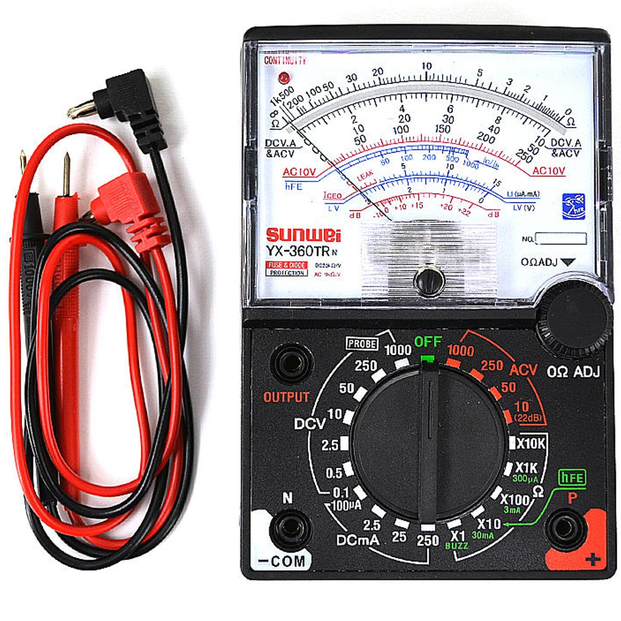 Candide Misuratore Analogico Portatile Voltmetro Amperometro Ohmmetro Yx-360trn