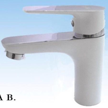 Design moderno bagno lavabo rubinetto miscelatore monocomando bianco - Miscelatore bagno moderno ...