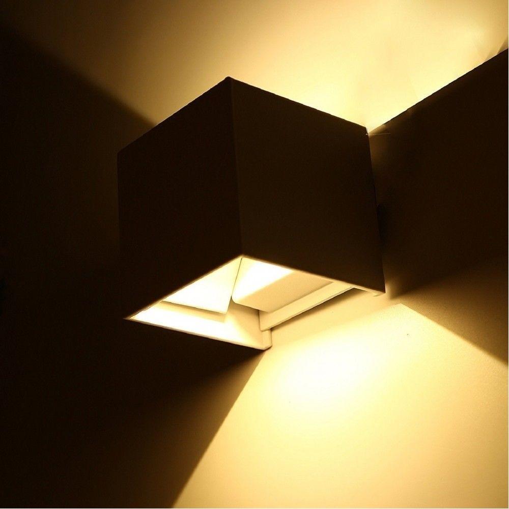 Lampade Per Porticati Esterni applique cubo led 40w per uso esterno ip65 doppia luce